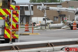 Construction crew damaged gas line