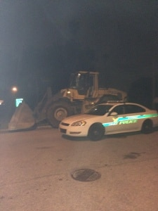 Man Driving Front Loader Flees From Officers in St