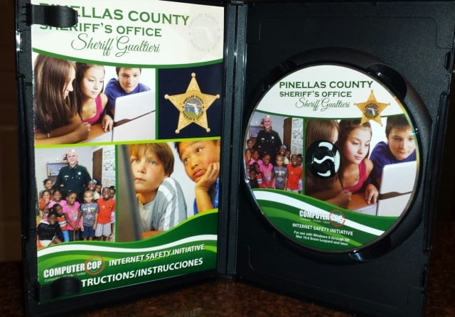 The software (COMPUTERCOP) is distributed on a CD customized for the Pinellas County Sheriff's Office