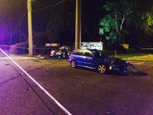 Crash on Dale Mabry Hwy and Lakeview Drive. Photo by Florida Highway Patrol
